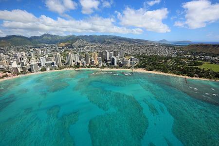 honolulu: Waikiki Beach, Honolulu - Oahu, Hawaii Stock Photo