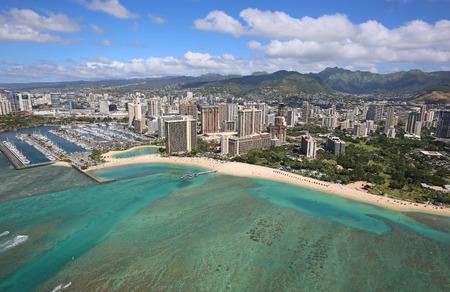 honolulu: Kahanamoku Beach - Honolulu, Oahu, Hawaii Stock Photo