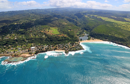 north shore: North Shore and Waimea Bay - Oahu, Hawaii Stock Photo