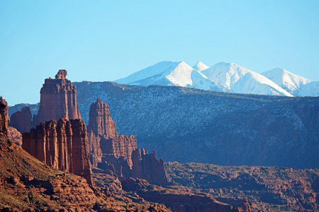 fisher: Fisher Towers and La Sal Mountains - Utah