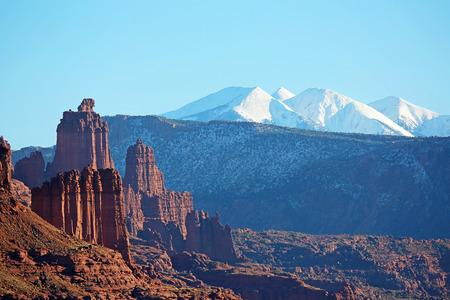 Fisher Towers and La Sal Mountains - Utah