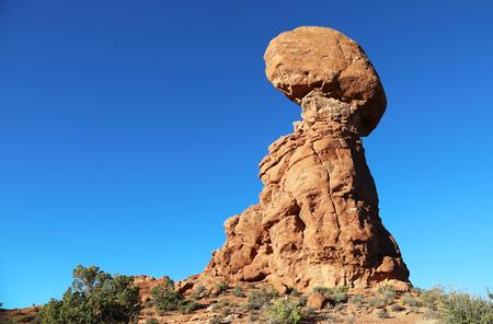 balanced: Balanced Rock - Arches National Park, Utah