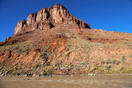 colorado river: Monument on Colorado River - Utah