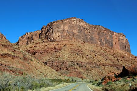 colorado river: Red cliffs of Colorado River gorge - Utah