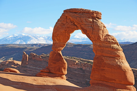 delicate arch: Delicate Arch - Arches National Park, Utah Stock Photo