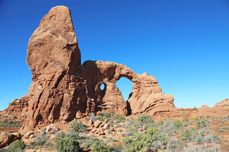 formation: Rock formation with Turret Arch - Utah