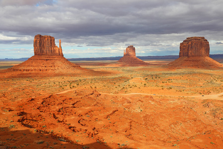 monument valley view: Iconic view at Monument Valley, Arizona