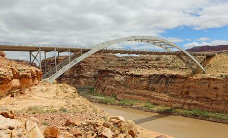 colorado river: Hite Crossing Bridge over Colorado River, Utah