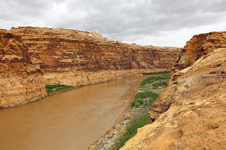 colorado river: Two boast in Colorado River Canyon, Utah