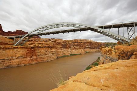 colorado river: Colorado River and Hite Crossing Bridge - Utah