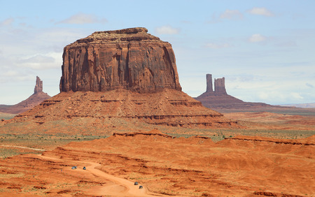 monument valley view: Driving thtough Monument Valley, Arizona
