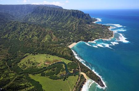 birdeye: North shore of Kauai - bird-eye view