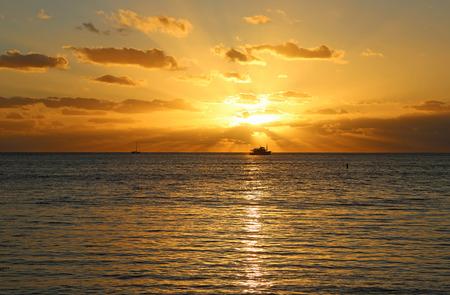 Sunrays - Oahu, Hawaii Stock Photo