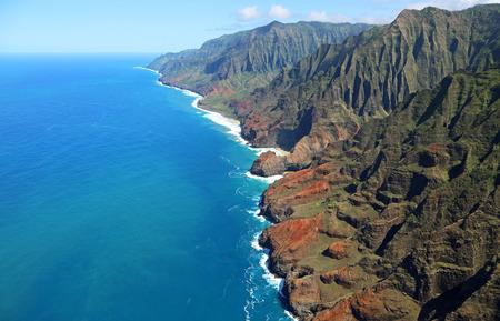 birdeye: Bird-eye view at Na Pali coast- Kauai, Hawaii Stock Photo