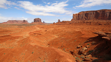monument valley view: View at Monument Valley from John Ford Point, Arizona Stock Photo