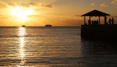 Sunset watchers - Oahu, Hawaii