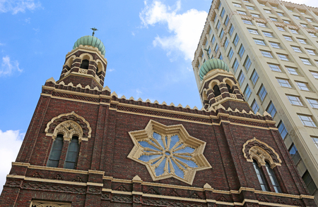 immaculate: Two towers of Immaculate Conception Church, New Orleans, Louisiana