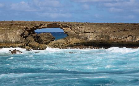 Oahu: Laniloa Arch, Oahu, Hawaii Stock Photo