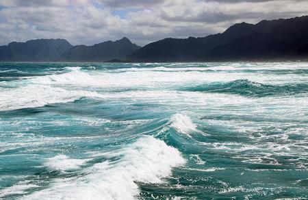 Ocean and mountains, Oahu, Hawaii