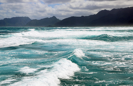 Ocean and mountains, Oahu, Hawaii