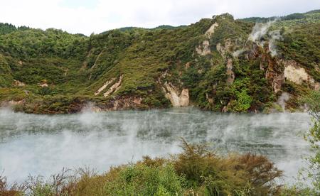 Frying Pan Lake, New Zealand