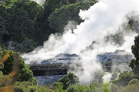 Te Puia geothermal valley, New Zealand Stock Photo