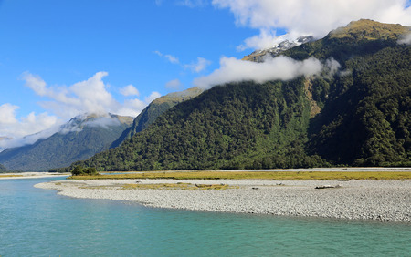 Haast river valley, New Zealand