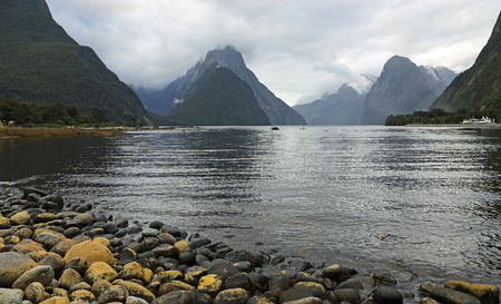 On Milford Sound, New Zealand