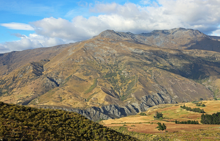クラウン山脈頂上、ニュージーランドからの眺め 写真素材