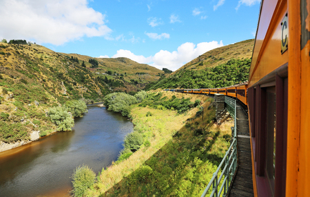 Taieri river and the train, New Zealand