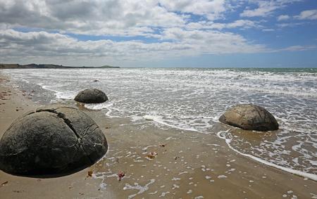Moeraki Boulders on Pacific, New Zealand