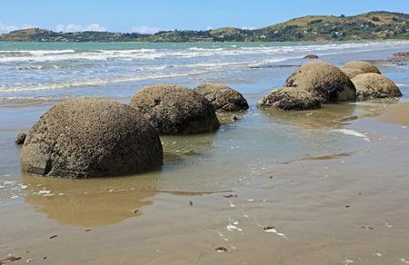 Landscape with Moeraki Boulders, New Zealand