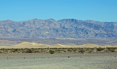 View at Mesquite Flat Sand Dunes, Death Valley NP, California