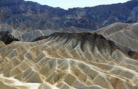 Erosional landscape of Zabriskie Point, Death Valley NP, California