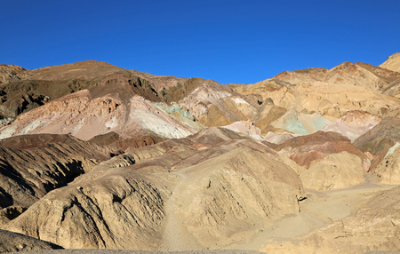 Trail to Artists Palette - Death Valley, California Stock Photo