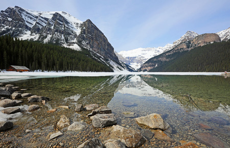 Faitview Mountain on Lake Louise, Banff NP, Canada Banco de Imagens