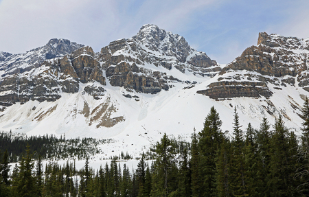 Waputik Mountains, Alberta, Canada Banco de Imagens