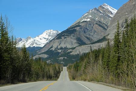 Hills on Icefield Parkway, Alberta, Canada Banco de Imagens