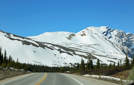 Entering Columbia Icefield, Alberta, Canada Banco de Imagens