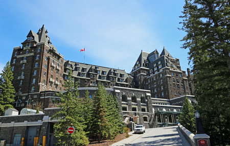 Fairmont Banff Springs - Alberta, Canada Stock Photo