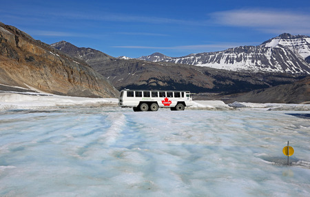 Glacier vehicle on Athabasca glacier, Jasper NP