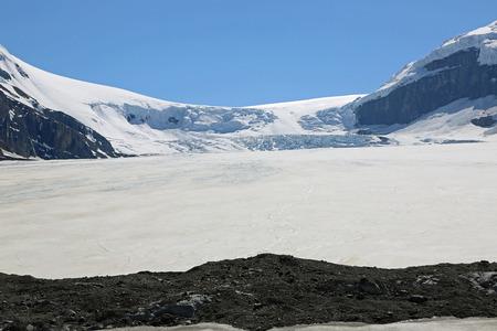 Terminal moraine of Athabasca glacier, Canada