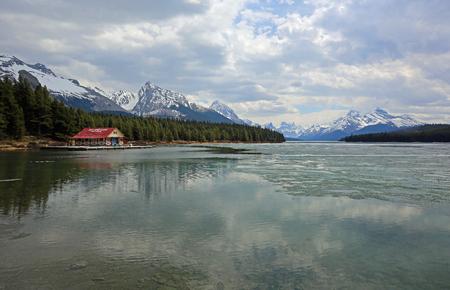 Landscape on Maligne Lake, Jasper NP, Canada