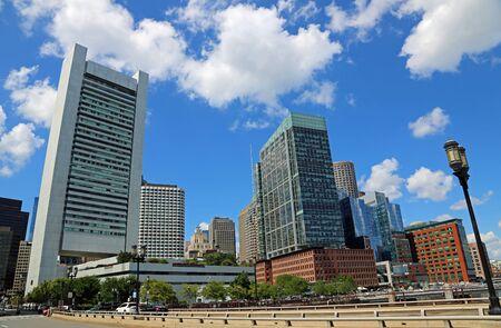 Walking to downtown of Boston, Massachusetts