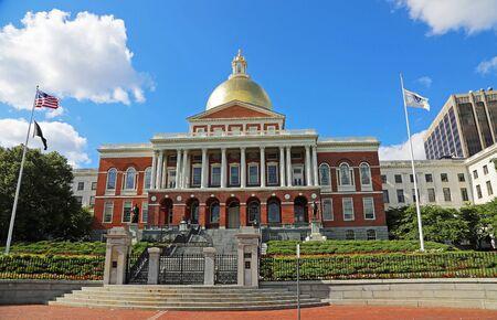 View at Massachusetts State House, Boston