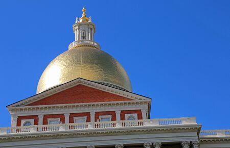 Copper dome of Massachusetts State House, Boston Reklamní fotografie