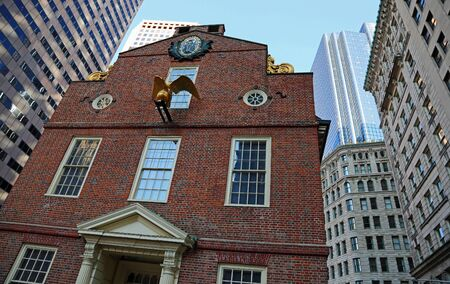 Front of Old State House, Boston