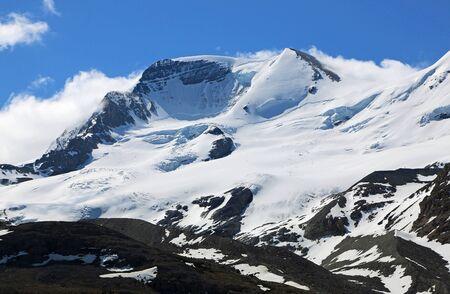 Mount Athabasca, Jasper NP, Canada Imagens