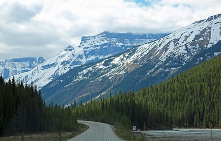 Icefield Parkway in the valley, Jasper NP, Canada