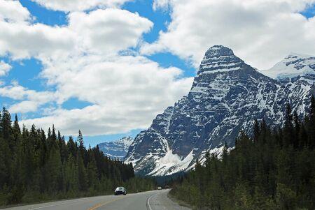 Icefield Parkway and Mount Chephren, Jasper NP, Canada